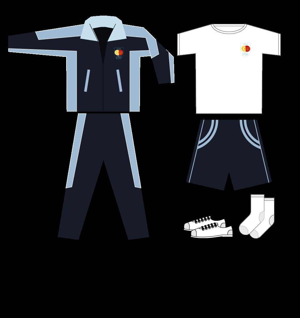Uniforme Cortes de Cádiz, Educación Primaria. Deporte.